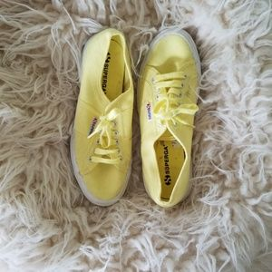 Superga yellow sneakers shoes 41